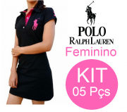 KIT 05 VESTIDOS RALPH LAUREN