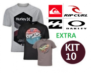 KIT 10 CAMISETA EXTRA DE SURF