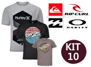 KIT 10 CAMISETAS DE SURF