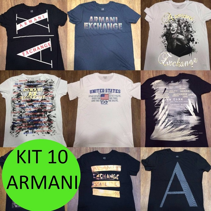 KIT 10 CAMISETAS ARMANI   - Maicon Fernando Pedroso