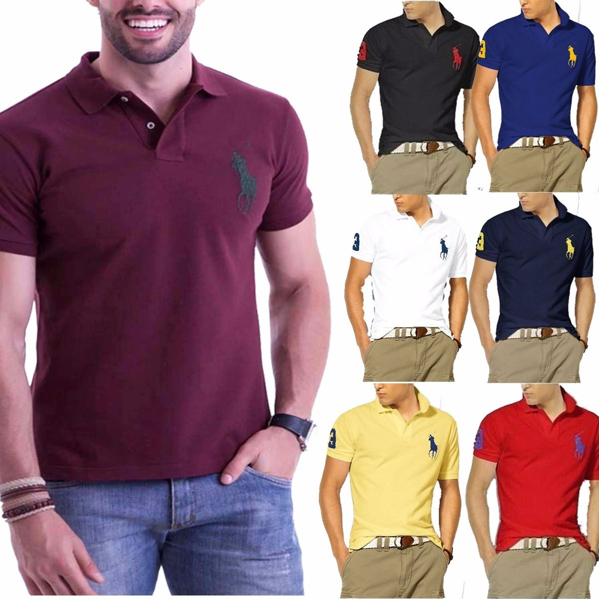 KIT 03 POLOS RALPH LAUREN BIG PONEY  - Maicon Fernando Pedroso