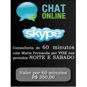 Consultoria Skype digitando ou voz  Período Noturno 60 Minutos