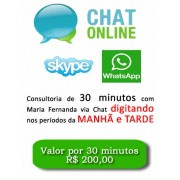 Consultoria Skype Whatsapp digitando Períodos Manhã e Tarde 30 Minutos