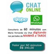 Consultoria Skype Whatsapp digitando Períodos Manhã e Tarde 60 Minutos