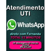 UTI WhatsApp 04 Mensagens de Voz ou escrita Total 12 minutos Segunda a Sexta