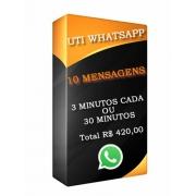 UTI WhatsApp 10 Mensagens de Voz ou escrita Total 30 minutos Segunda a Sexta.