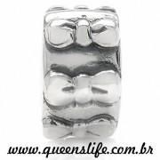 TRAVA LA�O COM SILICONE EM PRATA 925 COMPATIVEL COM TODAS PULSEIRAS ESTILO LIFE - Queen