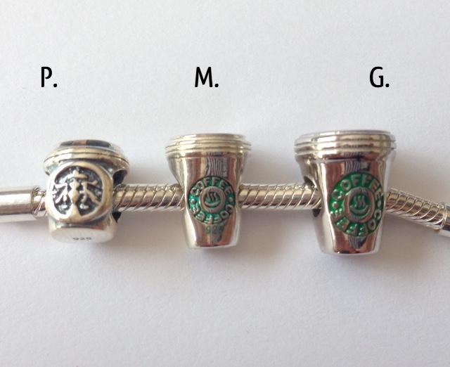 CAFÉ/ COFFEE STARBUCKS GRANDE PRATA 925 , ESMALTE E BANHO DE RÓDIO.