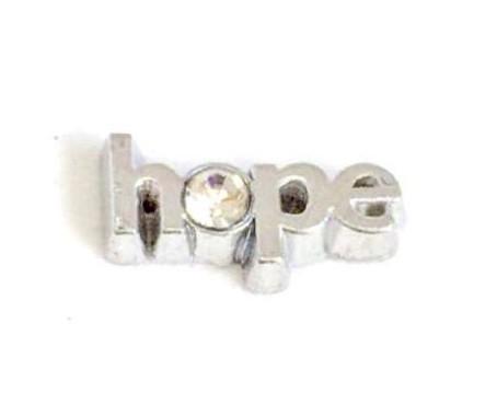 CHARME PARA CÁPSULA  - HOPE / ESPERANÇA, COM CRISTAL.