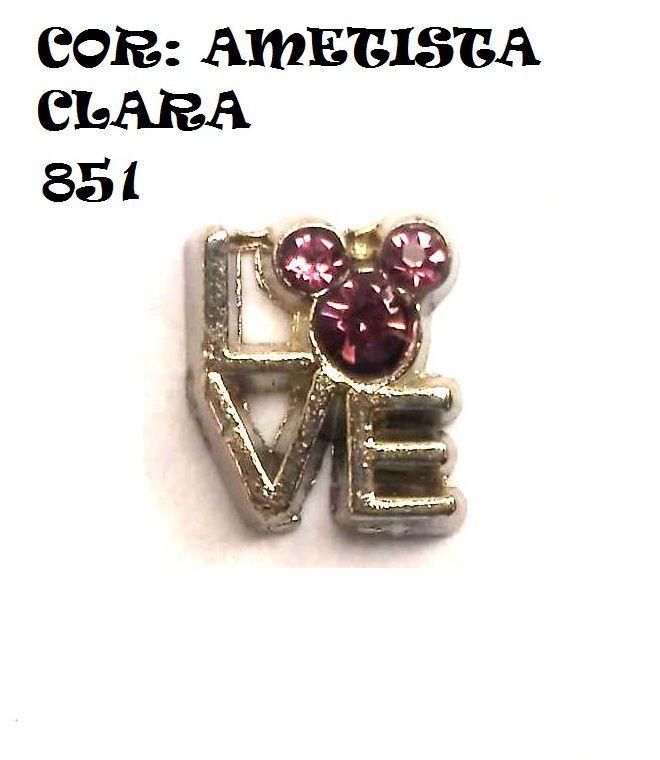 CHARME PARA CÁPSULA  - LOVE MOUSE - AMO  (12 CORES)
