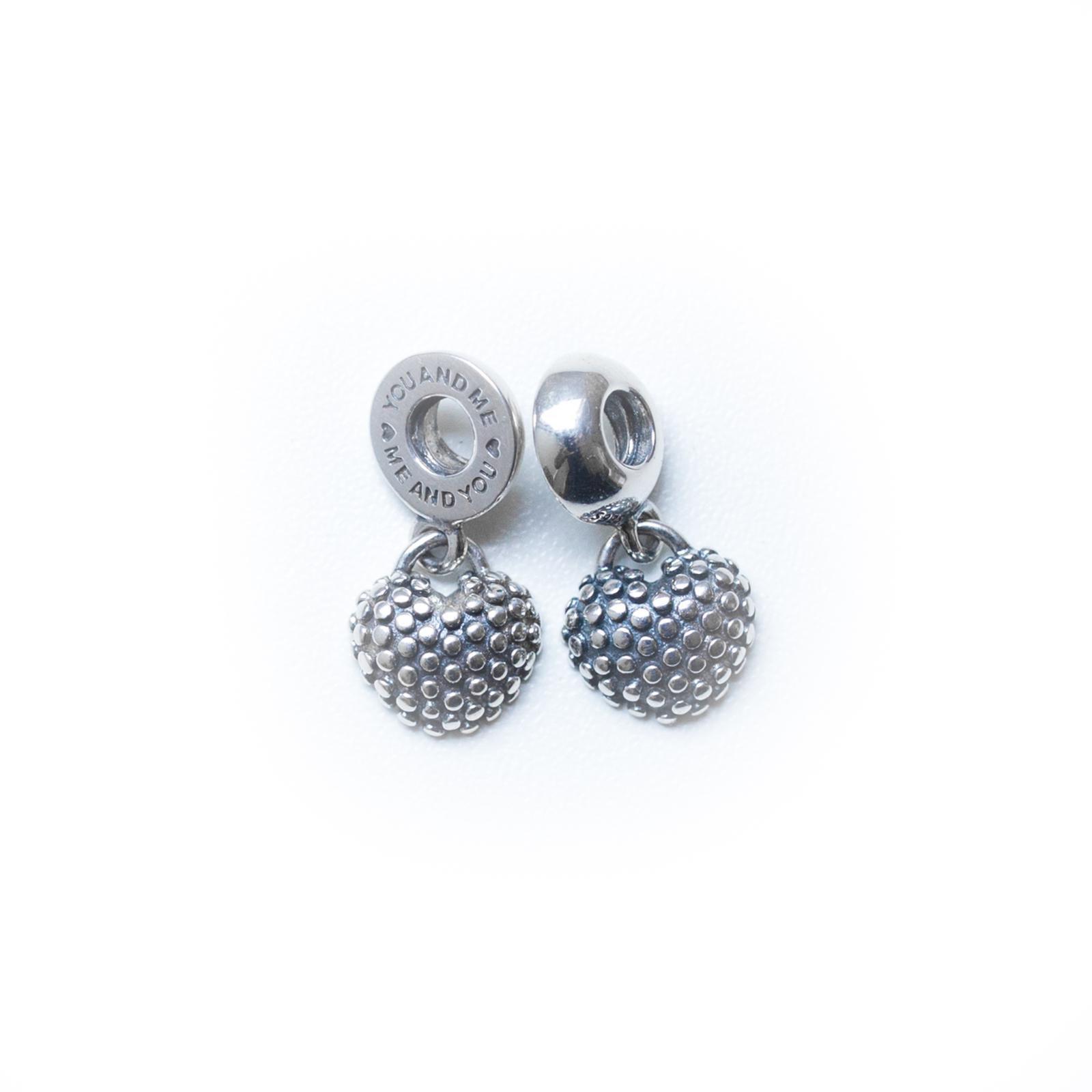 CORAÇÃO VERMELHO Mãe e FILHA Berloque, Pingente em prata 925