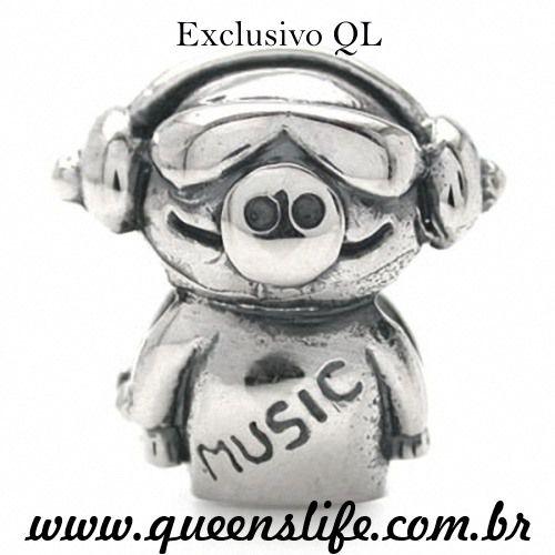 PORCO com Headfone Beats BERLOQUE EM PRATA 925