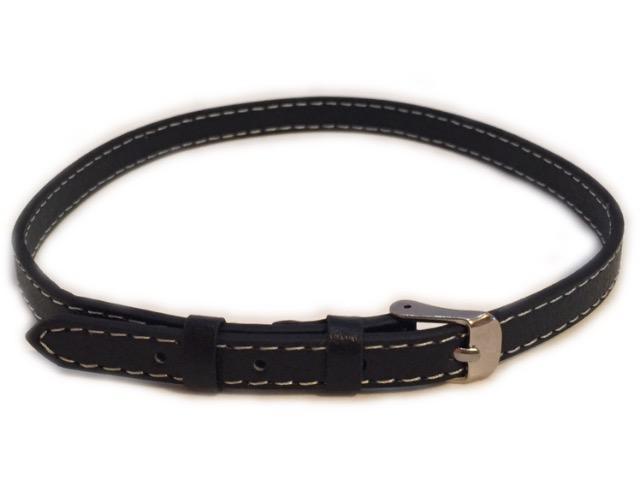 Pulseira Preta em couro 40 cm ideal para Bracelete Cápsula Medalhão.
