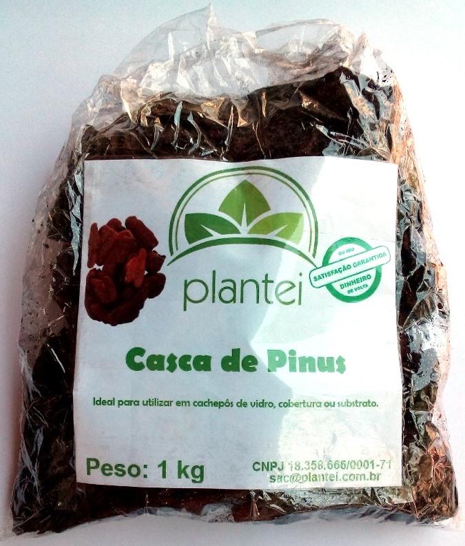 Casca de Pinus 100% natural Plantei 1kg
