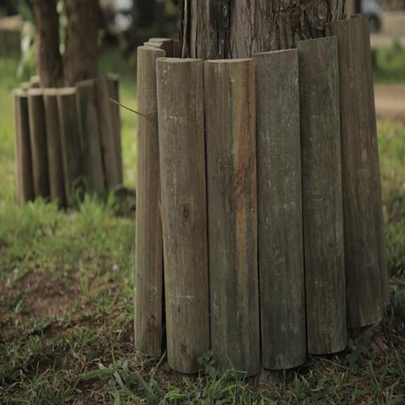 Cerca moita de madeira tratada 40x8x120cm (01 unidade)