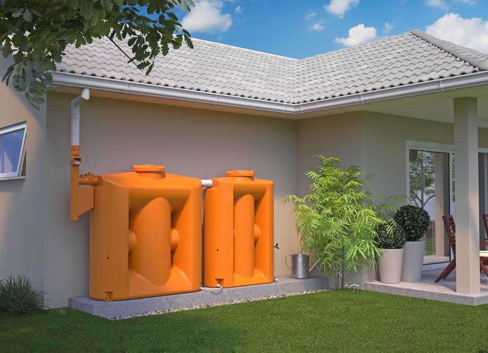Cisterna Vertical Modular 1000 litros com filtro e clorador Tecnotri