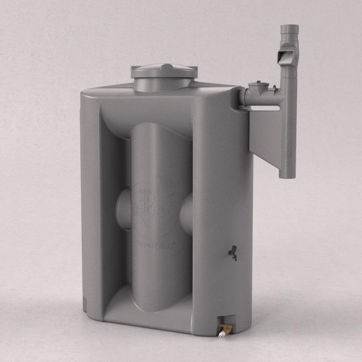 Cisterna Vertical Modular 600 litros com filtro e clorador - Kit Re�so de �gua - Tecnotri