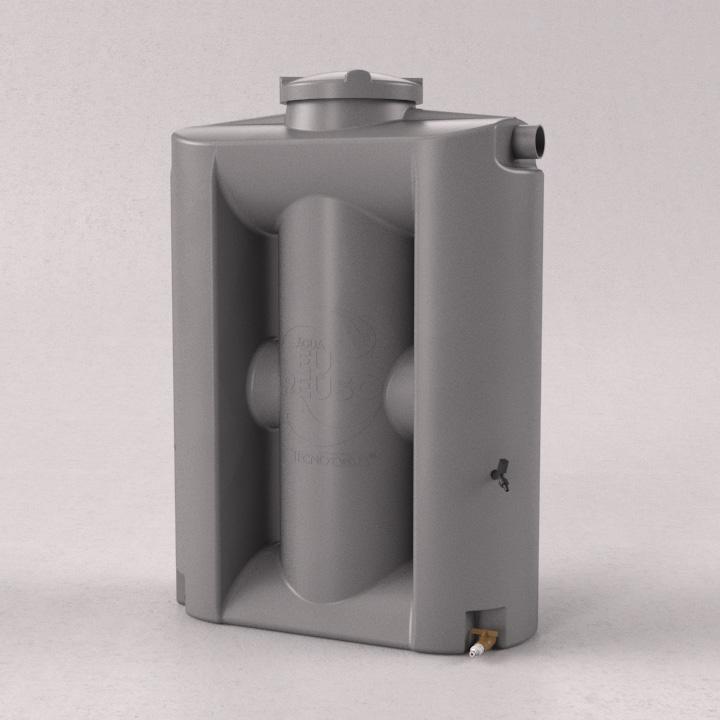 Cisterna Vertical Modular 600 litros sem filtro - Kit Re�so de �gua - Tecnotri