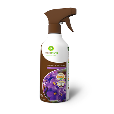 Fertilizante Foliar Dona Flor Violetas 500 ml pronto uso