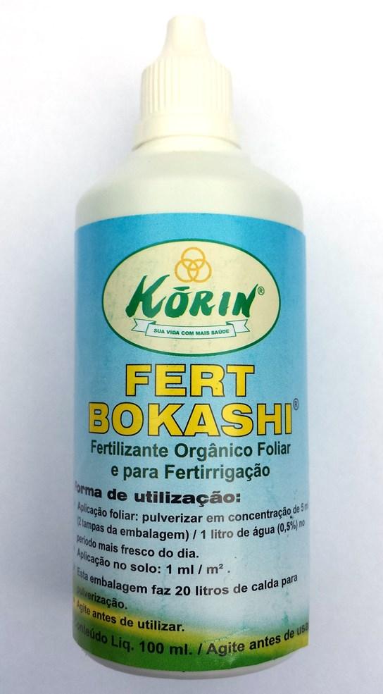 Fertilizante Orgânico Foliar e para Fertirrigação Bokashi 100ml - Korin