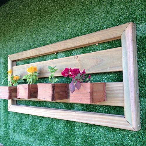 Horta Horizontal de madeira tratada 40x95cm (01 unidade) - Não acompanha vasos