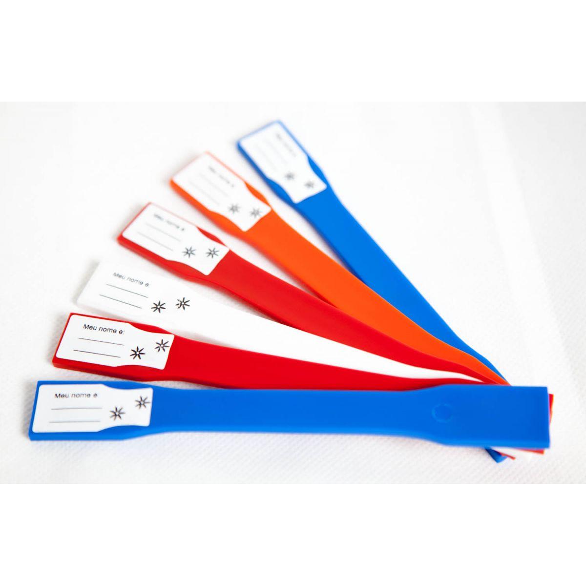Kit com 12 Plaquetas de identificação 15 cm - FAZFORT