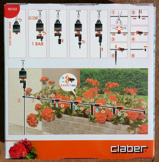Kit Drip 20 vasos com Timer - Claber