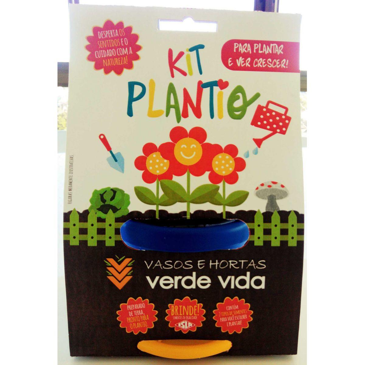 Kit Plantio Infantil Verde Vida Cores Sortidas