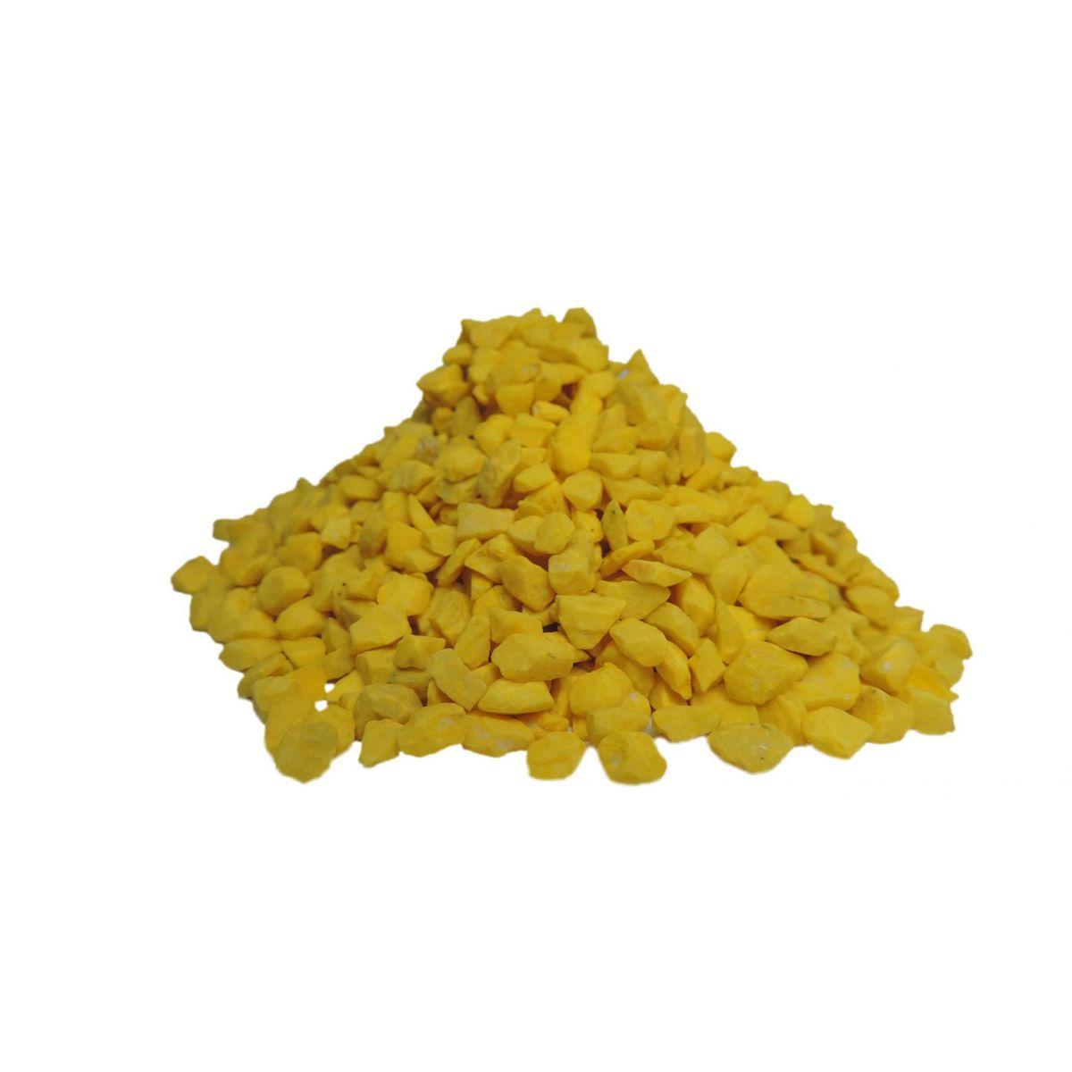 Pedras ornamentais para decoração e aquários 800g - Amarelo Gema