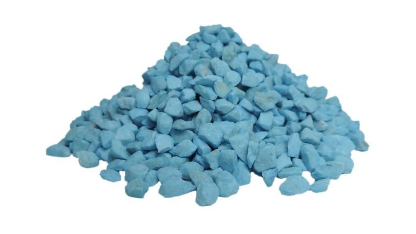 Pedras ornamentais para decoração e aquários 800g - Azul Clara