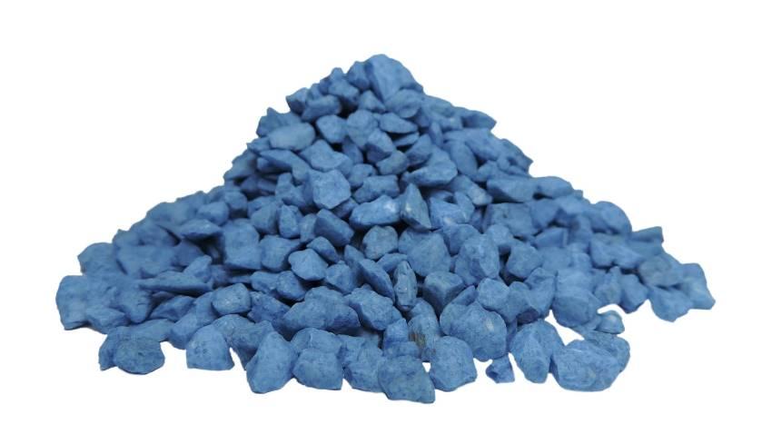 Pedras ornamentais para decoração e aquários 800g - Azul Escura