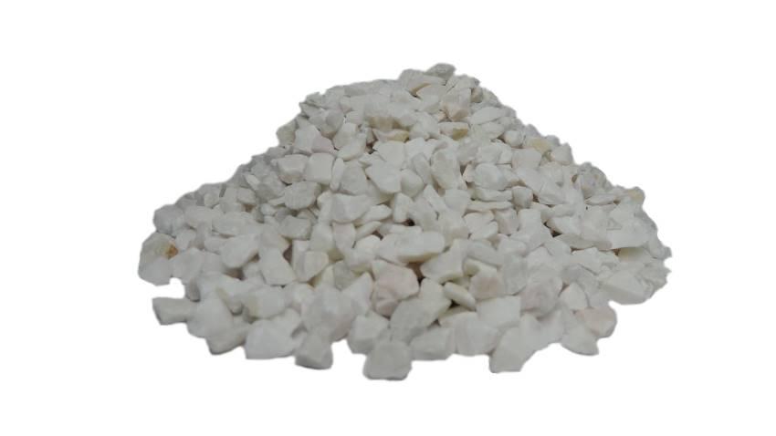 Pedras ornamentais para decoração e aquários 800g - Branca