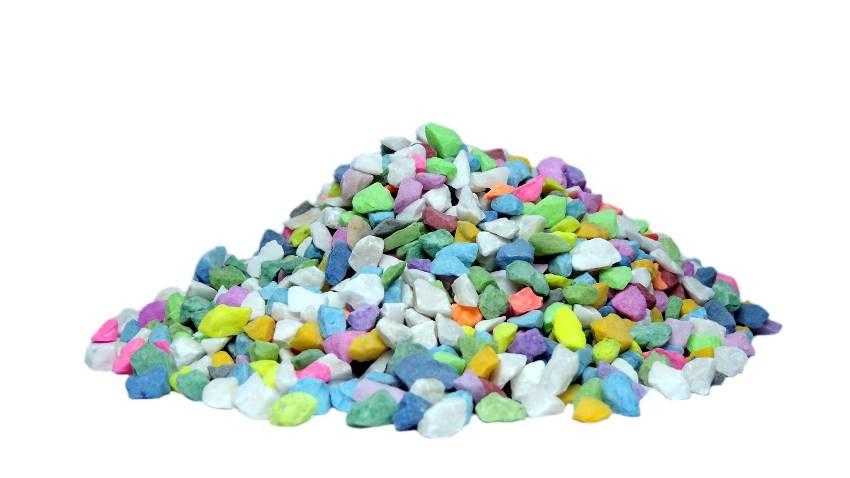 Pedras ornamentais para decora��o e aqu�rios 800g - Multicolorida