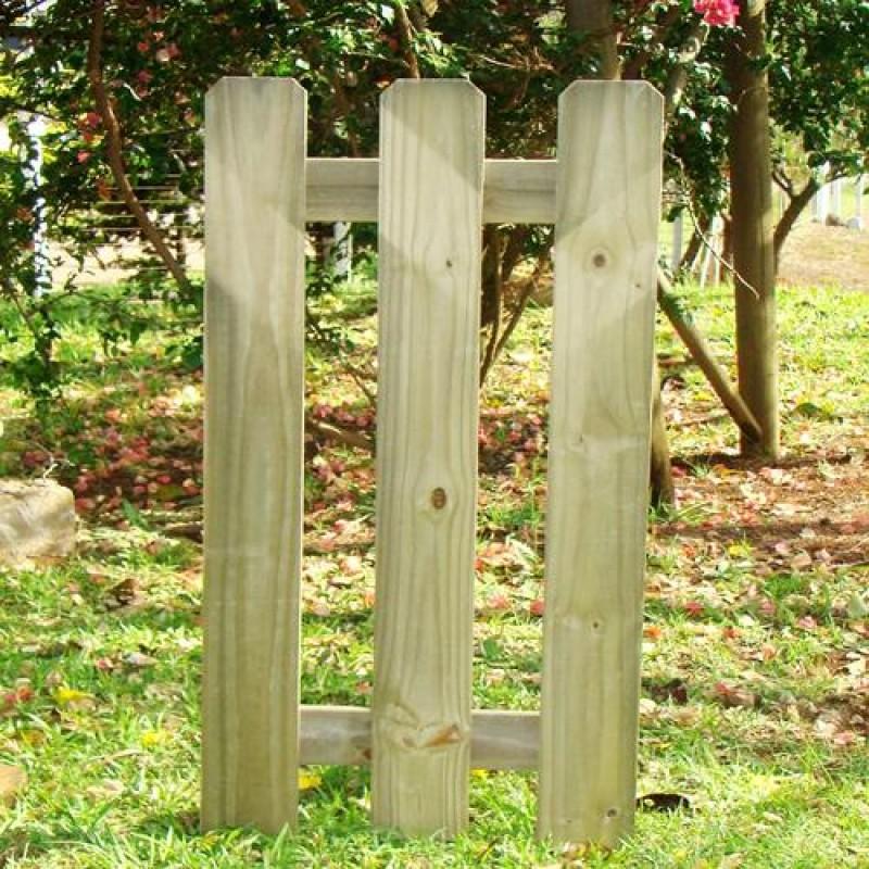 Portão Dog de madeira tratada 120x60cm (01 unidade)