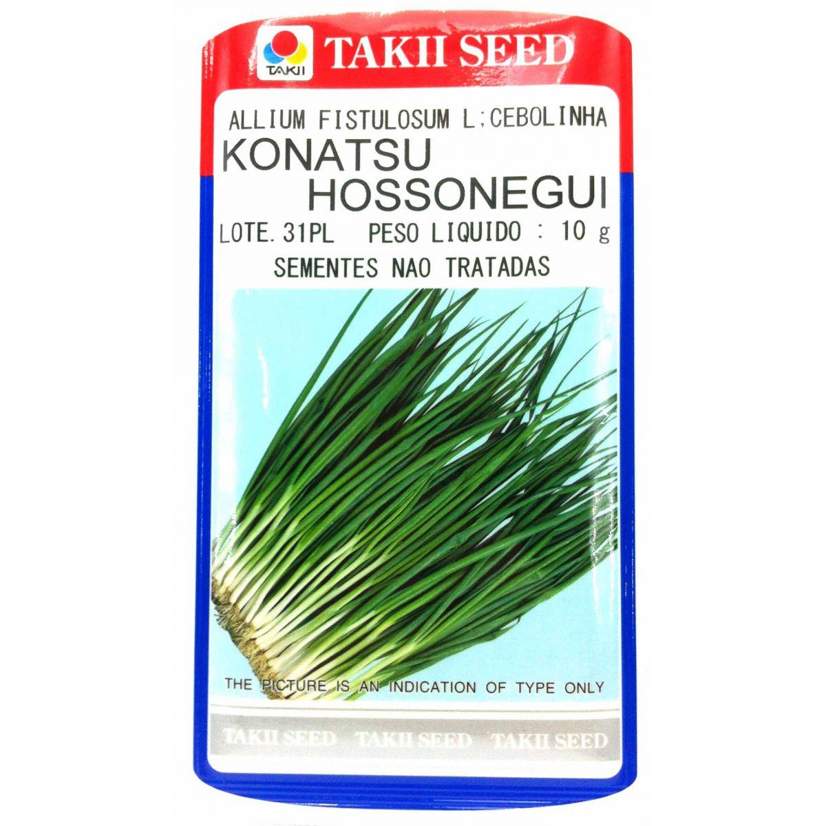 Sementes de Cebolinha Híbrida Konatsu HossoneguiI (fina) 10 g Takii Seed