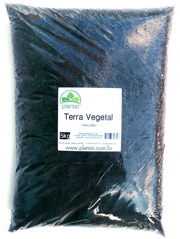 Terra Vegetal Turfa 5kg - Plantei