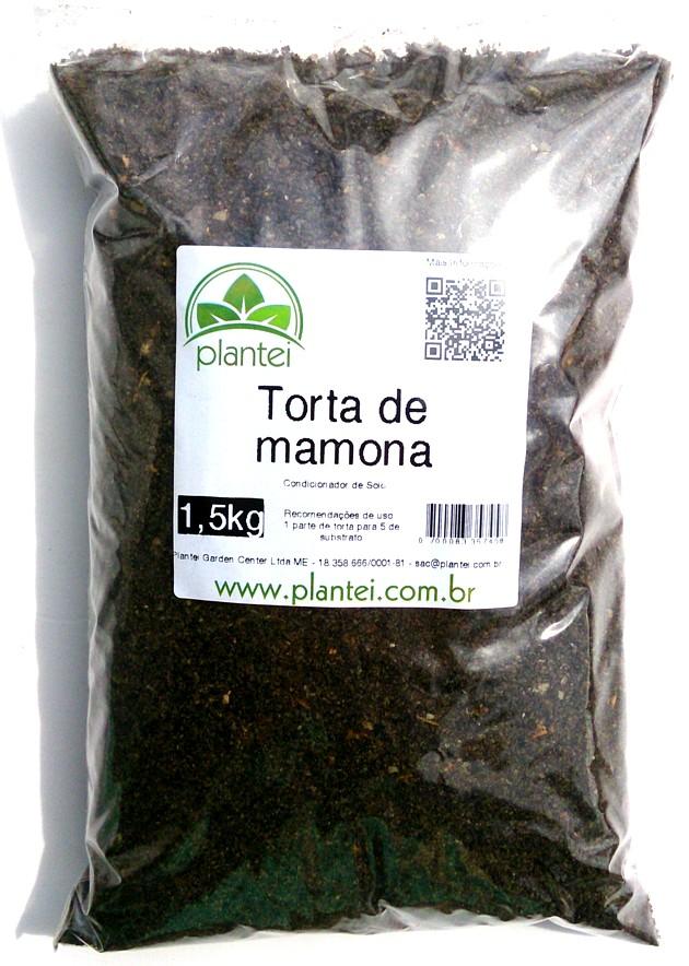 Torta de mamona orgânica 1,5 kg - Plantei