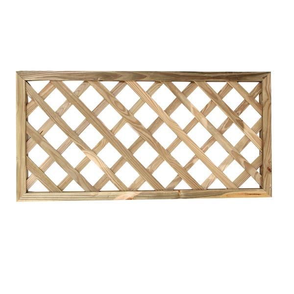 Treli�a diagonal de madeira tratada 60x120 cm (01 unidade)