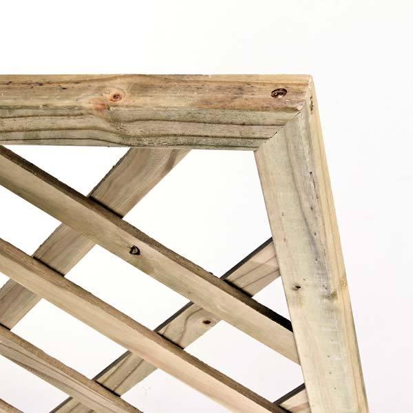 Treli�a diagonal de madeira tratada 90x180 cm (01 unidade)