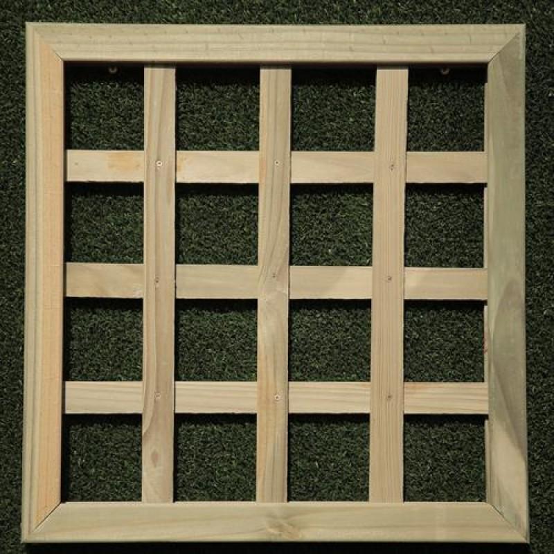 Treli�a Ortogonal de madeira tratada 120x120 cm (01 unidade)