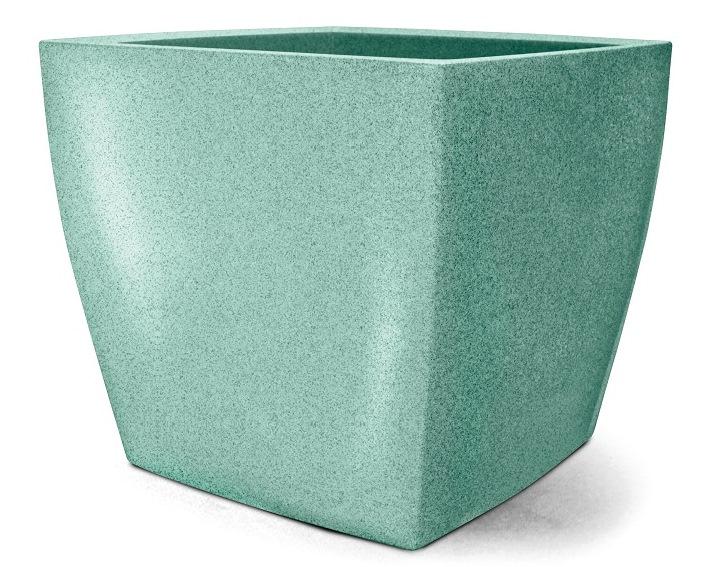 Vaso Classic Quadrado 50 Verde Esmeralda - 50,0 altura x 55,5 largura