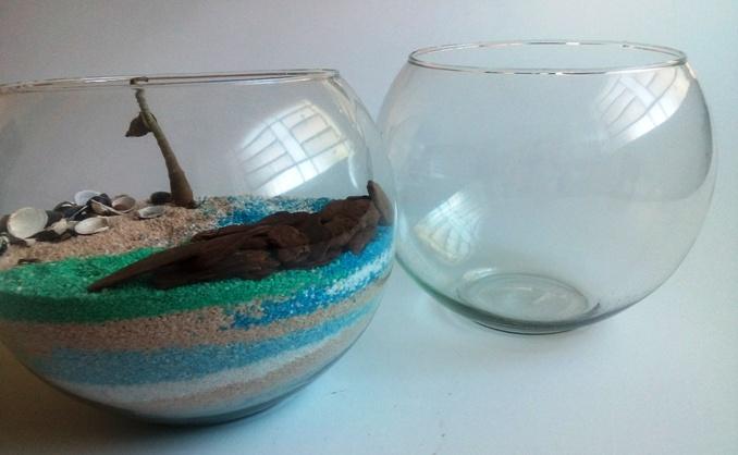 Vaso de vidro 01 para terrário - RIVIERA
