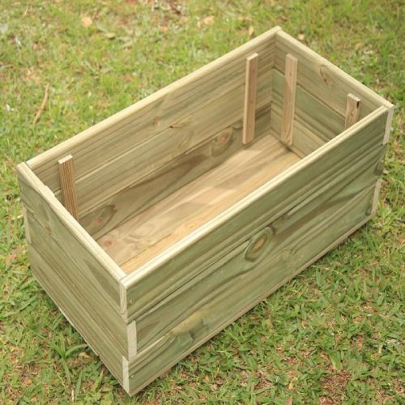 Vaso deck de madeira tratada 30x30x60cm