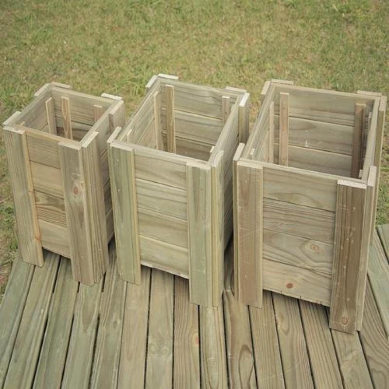 Vaso Modular de madeira tratada 54x45x45cm (01 unidade)