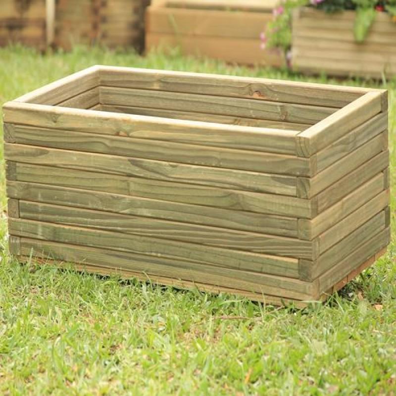 Vaso Retangular de madeira tratada 40x30x60cm
