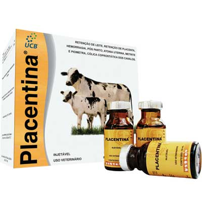 Placentina UCB 10ml  - Farmácia do Cavalo