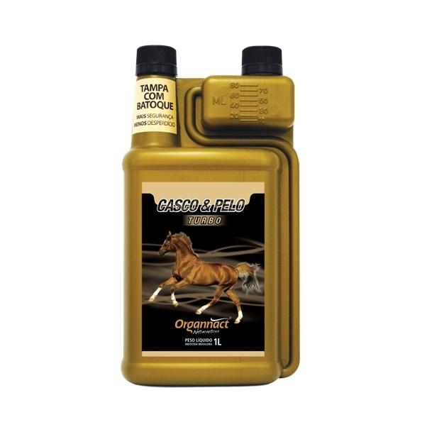 Organnact Casco e Pelo Turbo 1L  - Farmácia do Cavalo