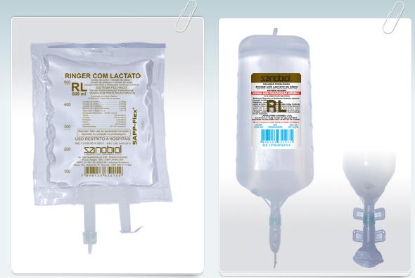 Ringer c/ Lactato 1000ml Sanobiol  - Farmácia do Cavalo