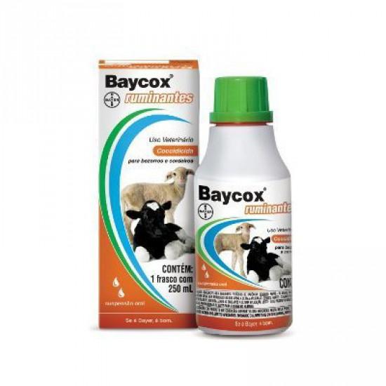 Baycox Ruminantes Susp. 5% 250ml  - Farmácia do Cavalo