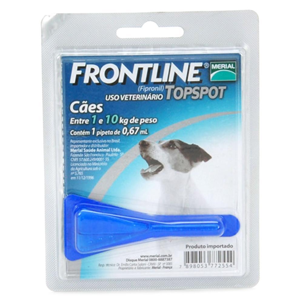 Frontline Top Spot 01 a 10Kg. P  - Farmácia do Cavalo
